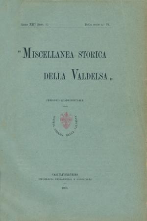 Miscellanea Storica della Valdelsa anno 1905