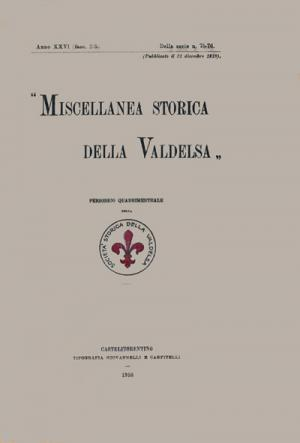 Miscellanea Storica della Valdelsa anno 1918