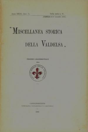 Miscellanea Storica della Valdelsa anno XXXI 1923