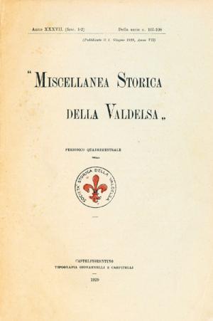 Miscellanea Storica della Valdelsa anno 1929