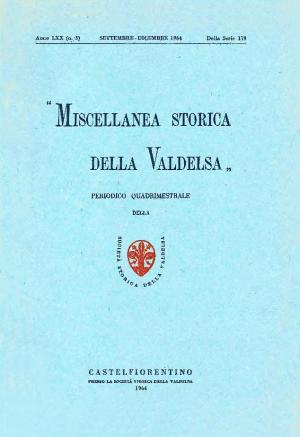 Miscellanea Storica della Valdelsa anno 1964