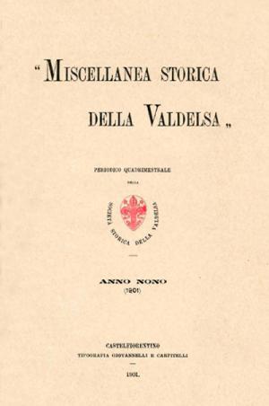Miscellanea Storica della Valdelsa anno 1901