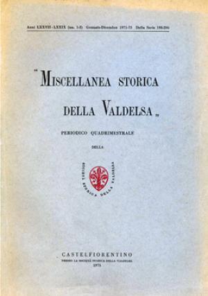 Miscellanea Storica della Valdelsa anno 1971-73