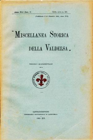 Miscellanea Storica della Valdelsa anno 1933