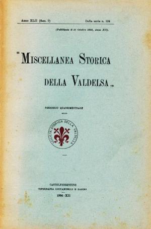Miscellanea Storica della Valdelsa anno 1934
